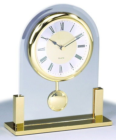 Bon Gold Table Clock With Swing