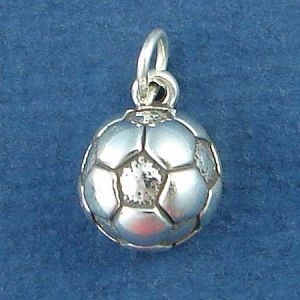 Soccer Ball Sports Sterling Silver Charm Pendant Photo Main