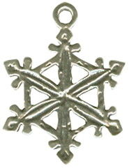Snowflake 3D Sterling Silver Charm for Bracelet or Necklace Pendant Photo Main