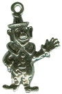 Clown 3D Sterling Silver Charm Pendant for Charm Bracelet Photo Main
