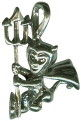 Halloween Devil 3D Sterling Silver Charm Pendant Photo Main