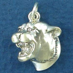 All Charms and Letter Blocks are .925 Sterling Silver Jewelry, Great For Use On Charm Bracelets, Ankle Bracelets, Necklaces, Pendants, And Charm Rings. Cougar Head Height 18-mm, Width 14-mm, Depth 6-mm, All sizes are rounded to the nearest millimeter.