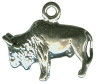 Buffalo Charm Small 3D Sterling Silver Pendant Photo Main
