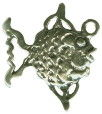 Fish: Angelfish 3D Sterling Silver Charm Pendant Photo Main