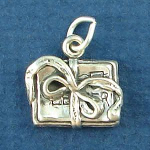 Scrapbook with Decorative Design 3D Sterling Silver Charm Pendant Photo Main