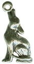 Coyote Howling 3D Sterling Silver Charm Pendant Photo Main