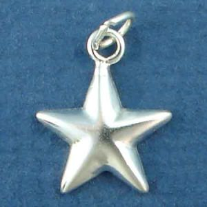 Star Sterling Silver Charm Pendant Photo Main