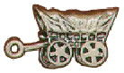 Cowboy: Covered Wagon 3D Sterling Silver Charm Pendant Photo Main