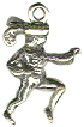 Christmas 12 Days: Lord Leaping 3D Sterling Silver Charm Pendant Photo Main