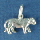 Tiger Charm Sterling Silver Pendant in 3D