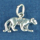Panther Charm Sterling Silver Pendant in 3D