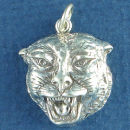Panther Head Charm Sterling Silver Pendant