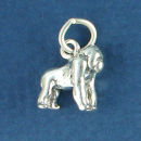 Gorilla Charm Sterling Silver Pendant in 3D