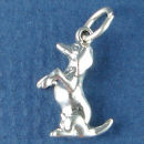 Dog Dachshund Charm Sterling Silver Pendant Begging in 3D