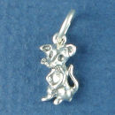 Mouse Charm Sterling Silver Pendant
