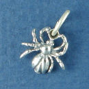 Spider Charm Sterling Silver Pendant