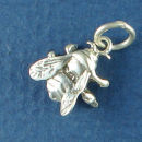 Insect 3D Fly Charm Sterling Silver Pendant