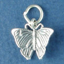 Butterfly 3D Sterling Silver Charm Pendant