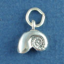Seashell 3D Sterling Silver Charm Pendant