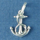 Anchor from a Ship Nautical Sterling Silver Charm Pendant