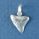 Shark Tooth 3D Sterling Silver Charm Pendant