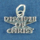 Religious Disciple of Christ Word Phrase Sterling Silver Charm Message Pendant