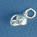 Football Helmet 3D Sports Sterling Silver Charm Pendant