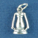 Lantern for Camping 3D Sterling Silver Charm Pendant