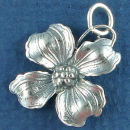 Flower: Dogwood Sterling Silver Charm Pendant