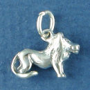 Astrology Zodiac Sign Charm Leo 3D Sterling Silver Charm Pendant