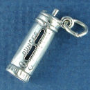 Baby Bottle 3D Sterling Silver Charm Pendant