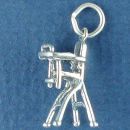 Baby High Chair 3D Sterling Silver Charm Pendant