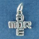 Love: Amore 3D Sterling Silver Charm Pendant