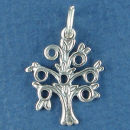 Christian and Jewish Tree of Knowledge Sterling Silver Charm Pendant