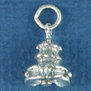 Christmas Tree 3D Sterling Silver Charm Pendant
