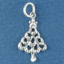 Christmas Tree Sterling Silver Charm Pendant Grea Addition to a Charm Bracelet