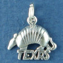 Texas Armadillo Sterling Silver Charm for Charm Bracelet