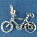Bicycle 3D Bike Sterling Silver Charm for Charm Bracelet or Necklace