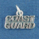 Military Coast Guard Sterling Silver Charm Word Phase Pendant