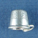 Sewing Thimble 3D Sewing Sterling Silver Charm Pendant