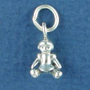 Baby Doll Child's Toy 3D Sterling Silver Charm Pendant
