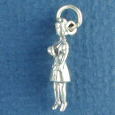 Nurse from Medical Occupation 3D Sterling Silver Charm Pendant