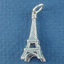 Tour: Eiffel Tower of Paris Sterling Silver 3D Charm Pendant
