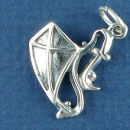 Kite with Tail Sterling Silver Charm Pendant