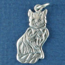Cat Setting Sterling Silver Charm Pendant