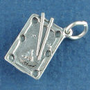 Billiard, Pool Table 3D Sterling Silver Charm Pendant
