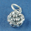 Birds Nest with Eggs 3D Sterling Silver Charm Pendant