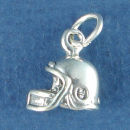 Helmet Football Charm Sterling Silver