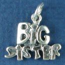 Sister, Big Family Sterling Silver Charm Pendant