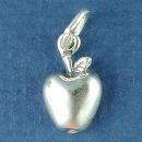 School Apple Child's Sterling Silver Charm for Chram Bracelet or Necklace Pendant